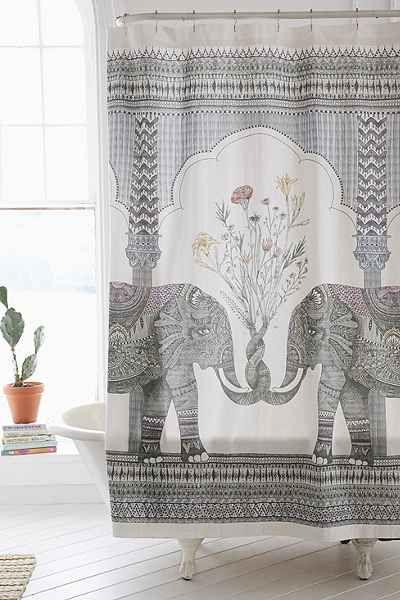 Magical Thinking Elephant Shower Curtain | Elephant shower curtains ...