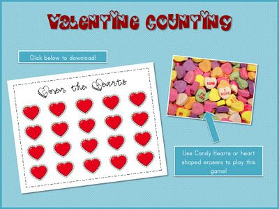 roll and cover Valentine game (freebie)