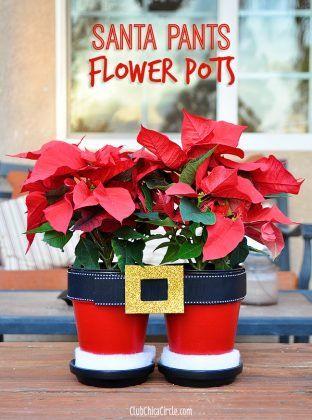 Christmas Flower Pots.10 Creative Clay Pot Christmas Craft Ideas Diy Crafts