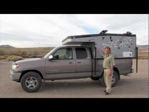 """DIY Home Built Pop-up """"Four Wheel Camper"""" On A Toyota Tundra"""