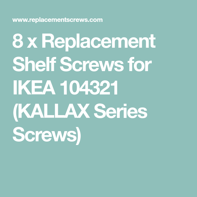8 IKEA Screws Part # 104321
