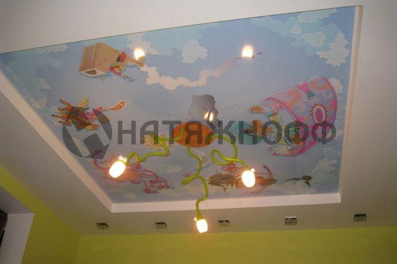 Сатиновый натяжной потолок фото 9 | Натяжные потолки ...