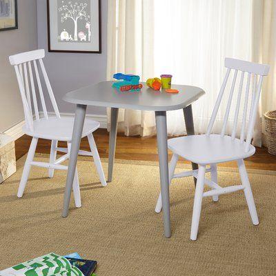 mack milo reading kids 3 piece square writing table and chair set rh pinterest com