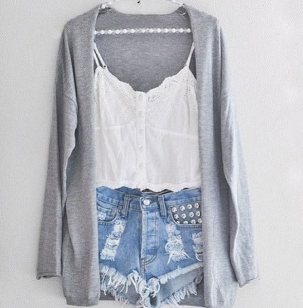 shorts cardigan blouse sweater jacket skirt pants top t-shirt tank ...