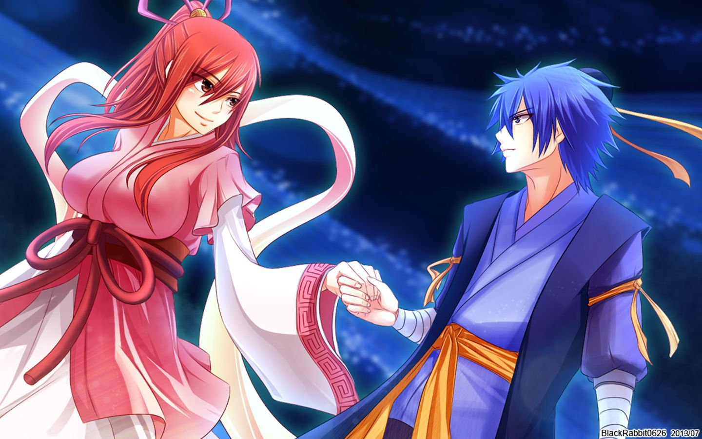erza scarlet and jellal fernandes fairy tail anime hd