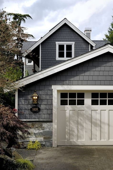 Grey Exterior Paint Color Siding Is Benjamin Moore Kendall