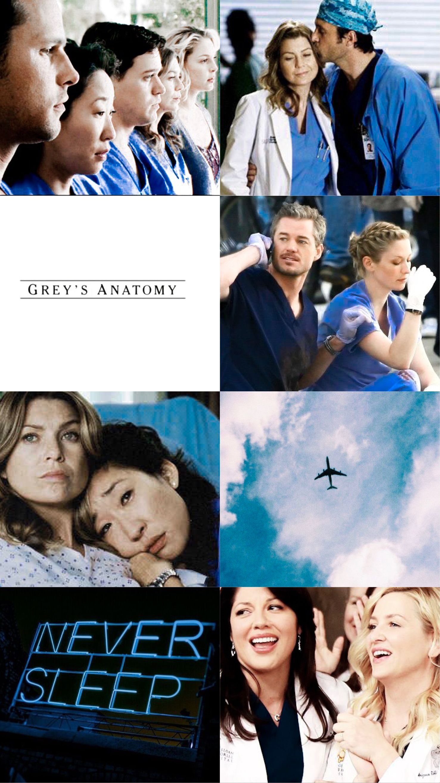 Greys Anatomy Wallpaper Srie Tv Cast Blue Azul Meredith