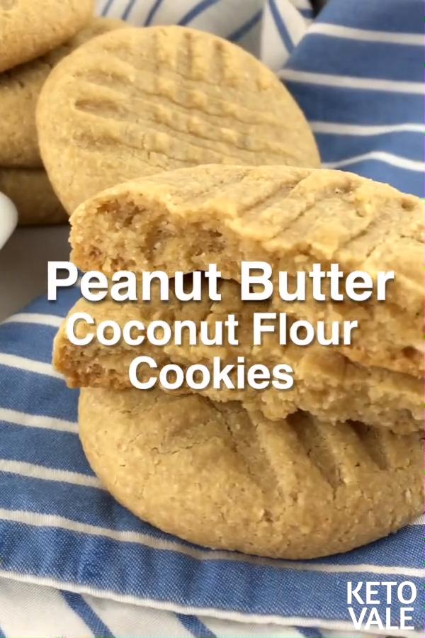 Keto Peanut Butter Coconut Flour Cookies
