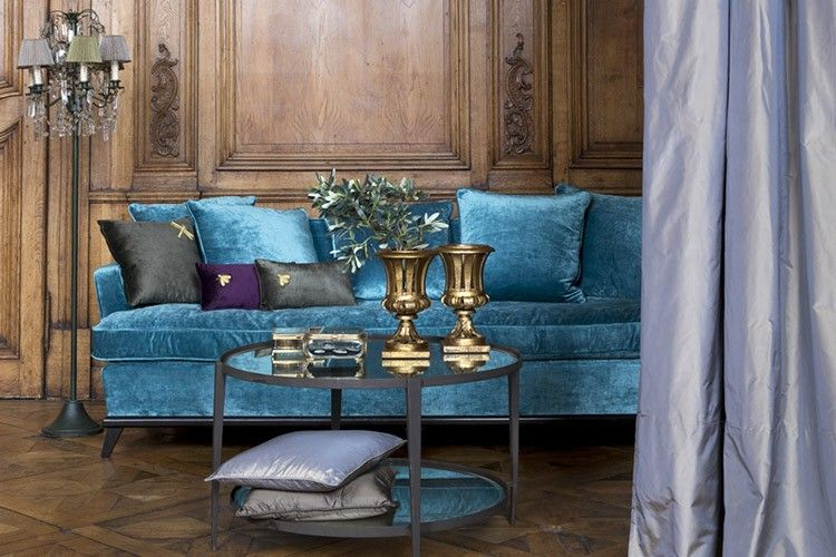 Du Bout Du Monde du bout du monde et canapé vincent bleu vu dans ideat magasin