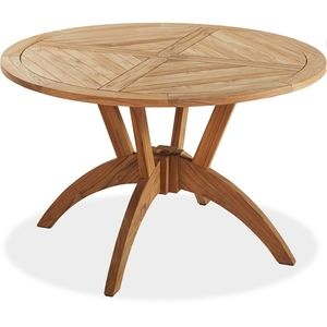 vineyard round teak table dining furniture patio furniture rh pinterest com