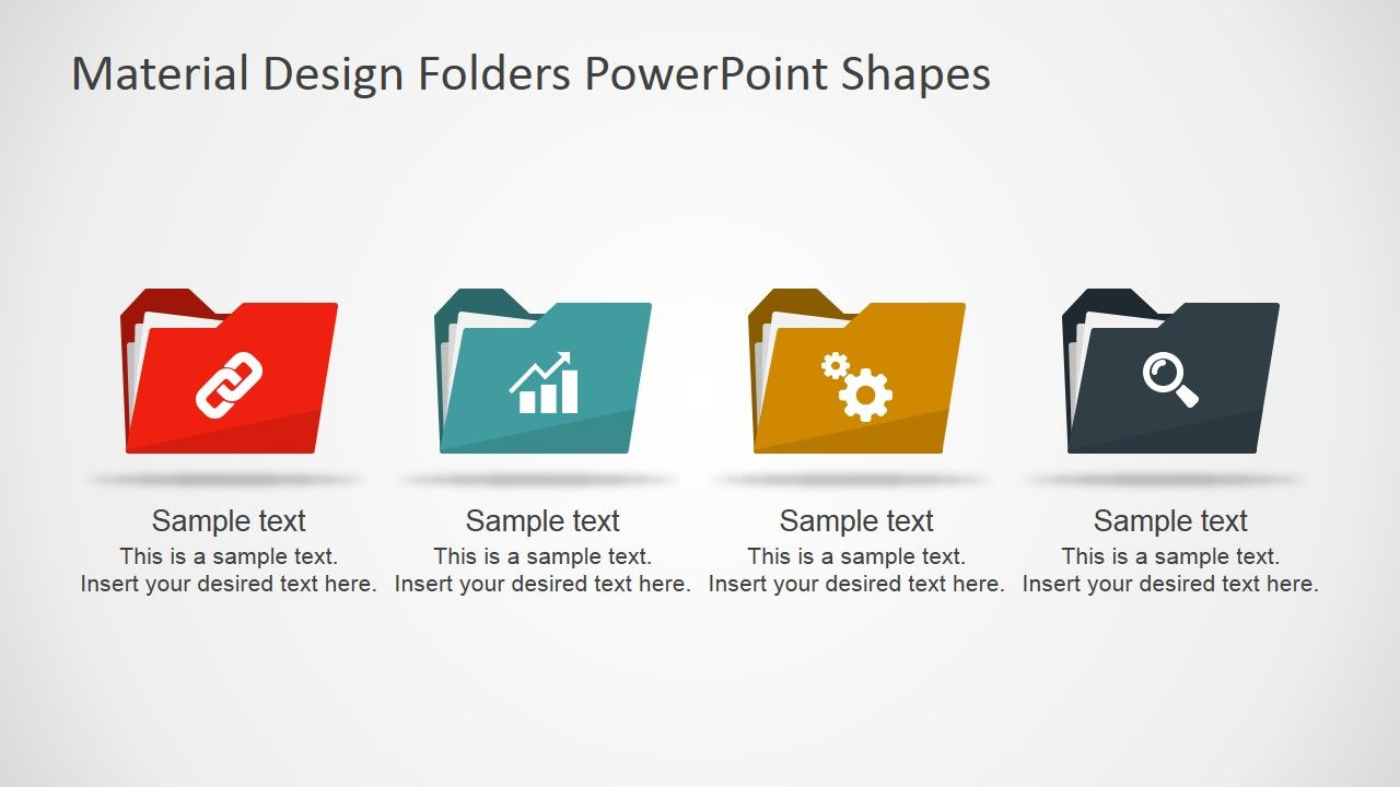 Material design folders powerpoint shapes material design flat material design folders powerpoint shapes the powerpoint template provides different folder shapes created with toneelgroepblik Gallery