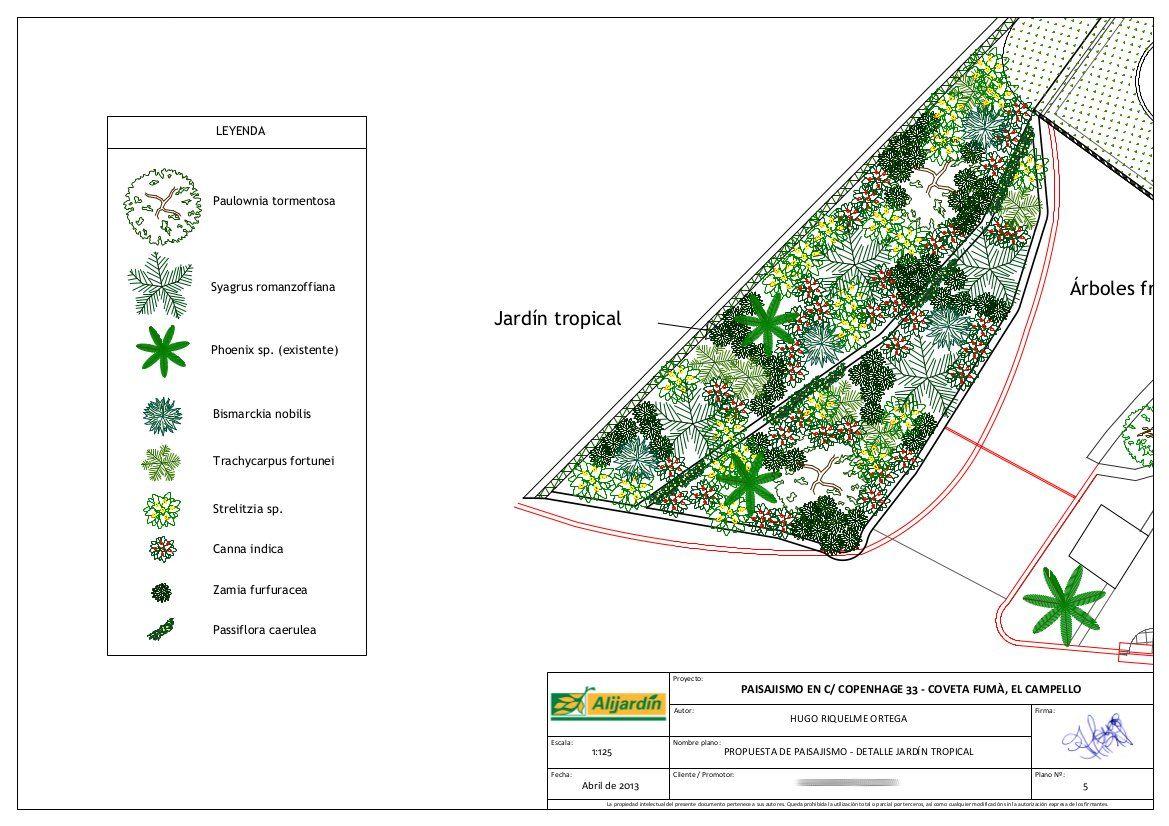 Proyecto Paisajismo En El Campello Alicante Detalle Del