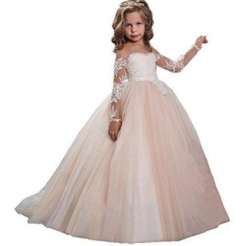 Fleur Filles Enfants Robes Tulle Tutu Mariage Demoiselle d/'honneur Parti Pageant robe de bal