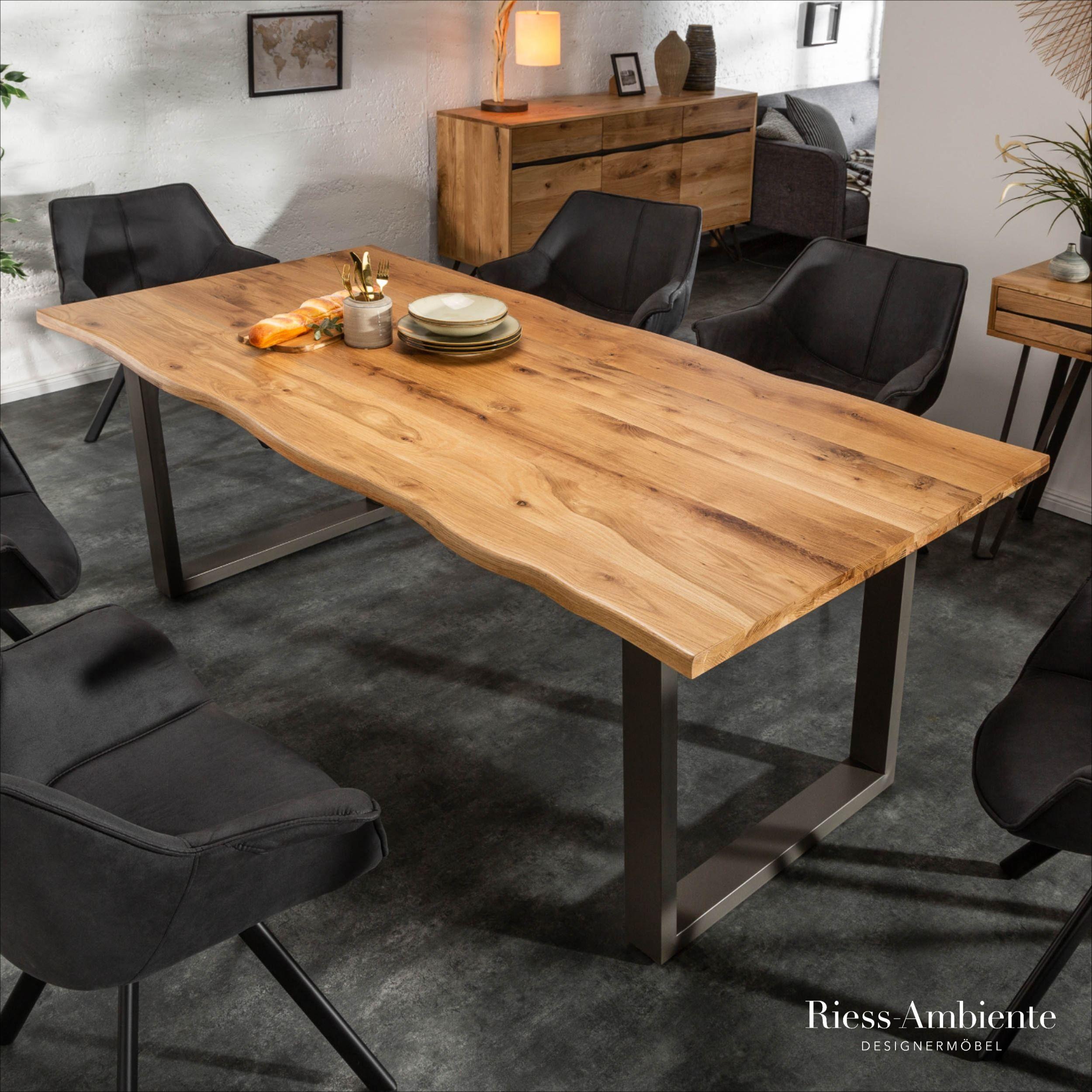 Massiver Baumkanten Esstisch Living Edge 180cm Wildeiche Geolt 3 5cm Tischplatte Riess Ambiente De In 2020 Wohnung Esszimmer Wohnung Mobel Wohn Esszimmer