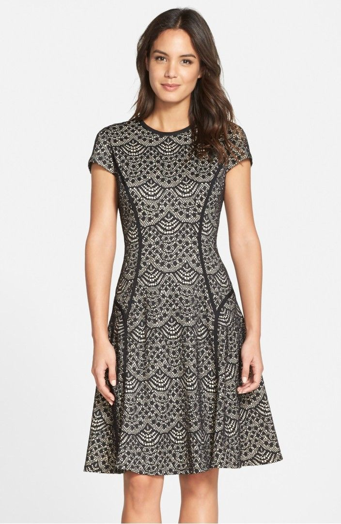 Main Image - Maggy London Scallop Lace Fit & Flare Dress | Summer ...
