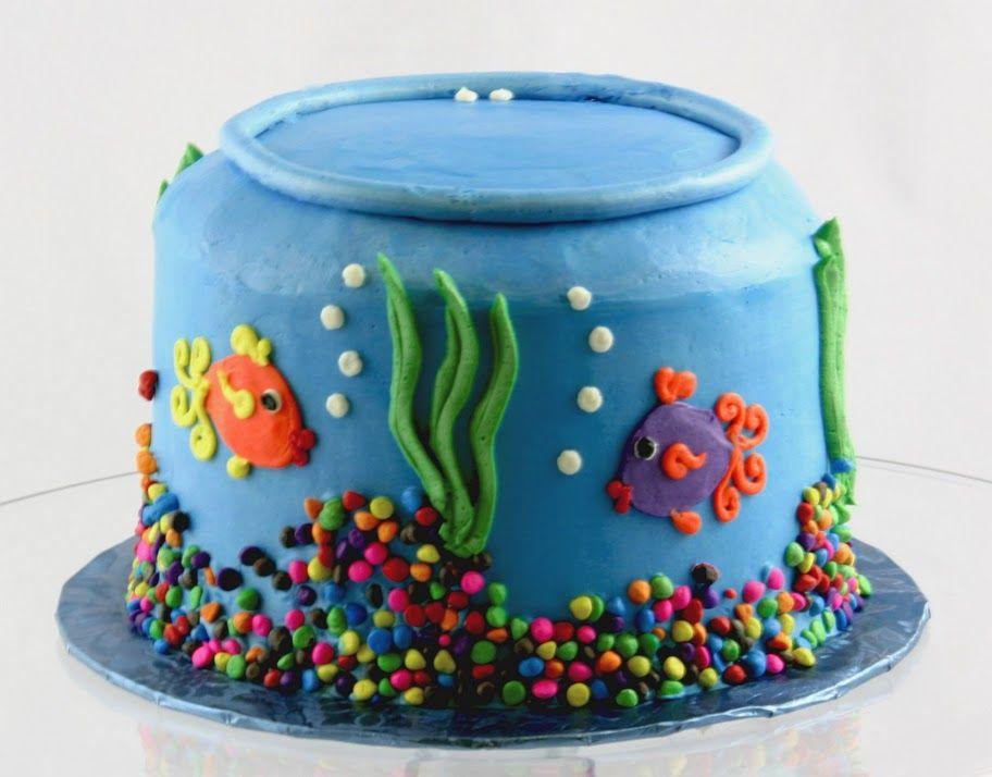 Pleasant Aquarium Birthday Cake Aquarium Cake Topper Underwater Birthday Funny Birthday Cards Online Necthendildamsfinfo