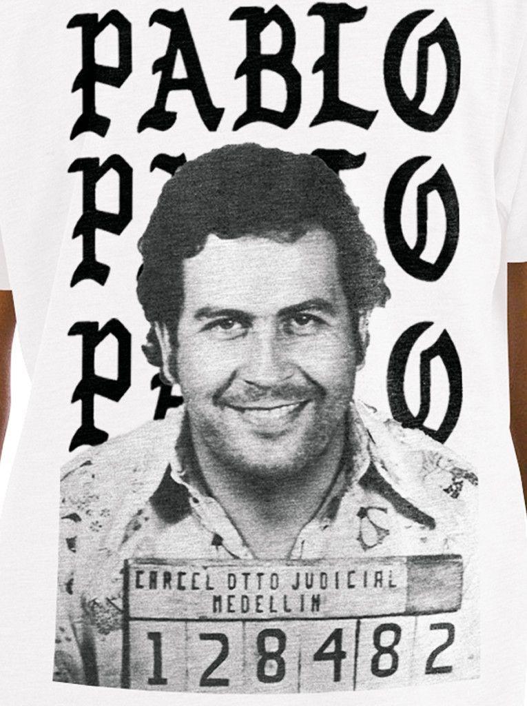 8fb463bd4 Pablo Escobar I Feel Like Pablo Men's T-shirt Kanye Escobar Tee ...