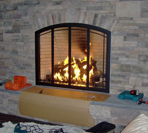 Home Fireplace Glass Doors Fireplace Doors Glass Door Repair