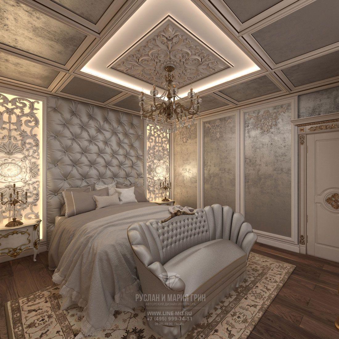Дизайн спальни и санузла в классическом стиле. 8 фото ...