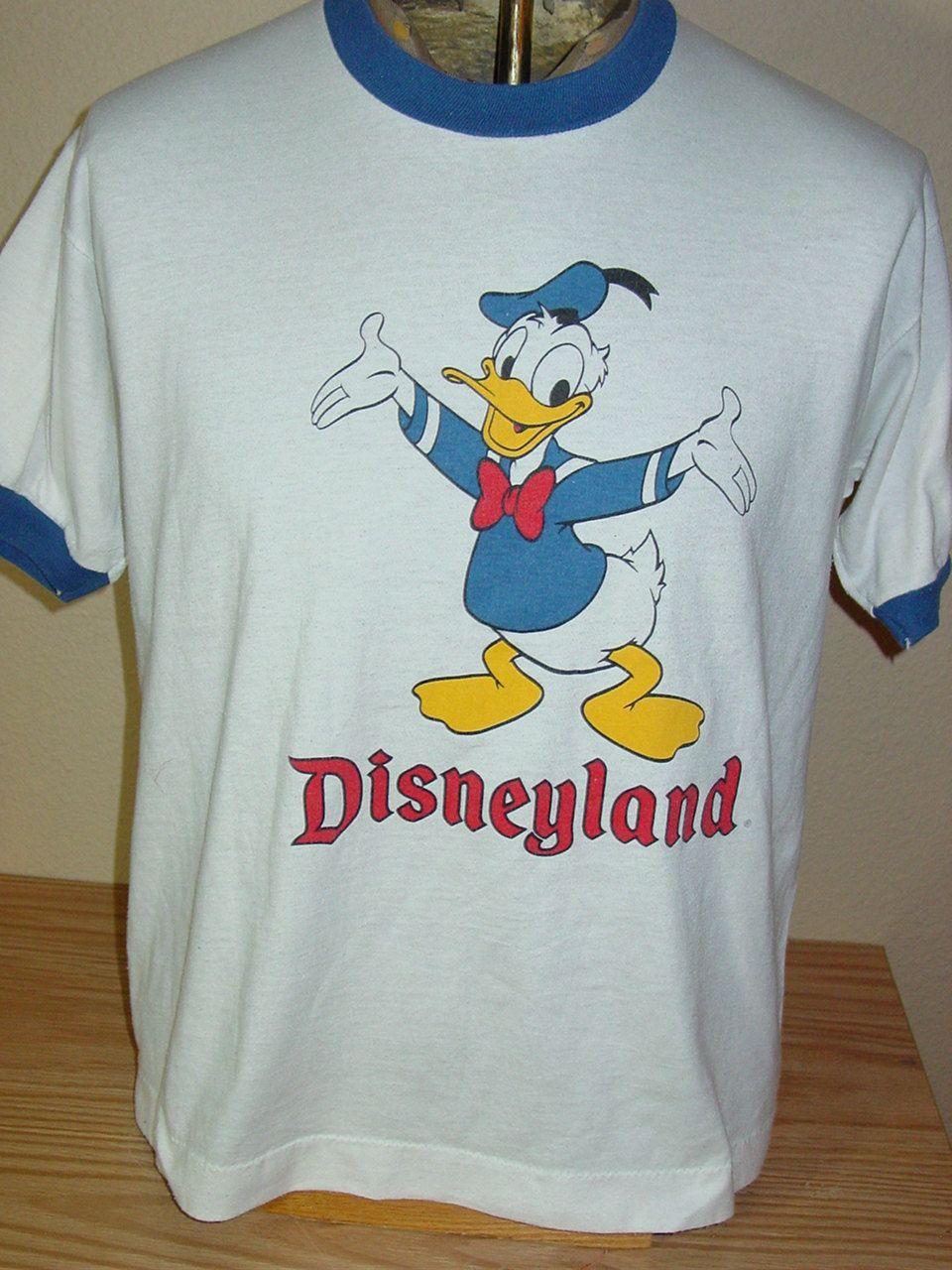 Vintage 1980s Donald Duck Disneyland Ringer T Shirt Large Shirts Disneyland T Shirt