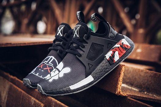 7dfce0570 Kaws X Adidas NMD Xr1 Boost Black Fashion Shoe