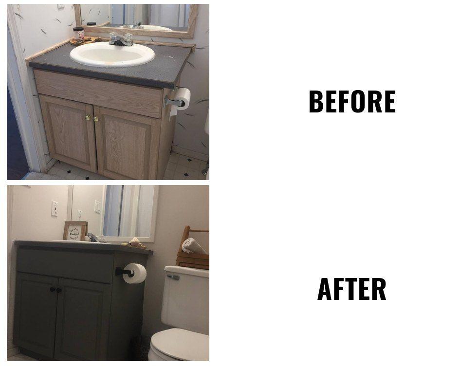 weekend rental bathroom makeover using superior paint co chalk rh pinterest com