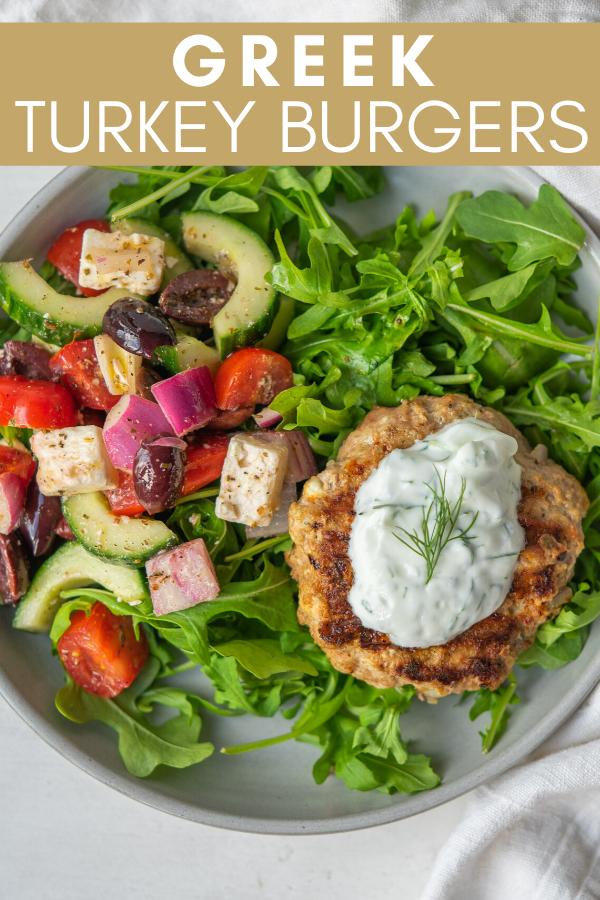 Greek Turkey Burgers - Mad About Food