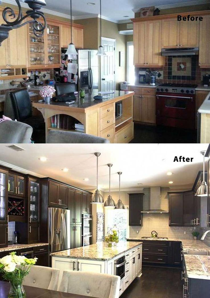 Kitchen Renovations The Pictures Of Before And After: U Shaped Kitchen Remodel Before And After. This Compact