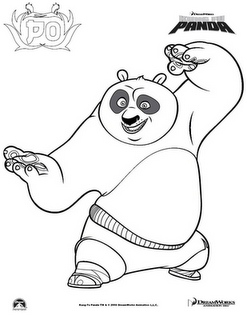 kungfu panda 2 kung fu pandapandascoloring pages