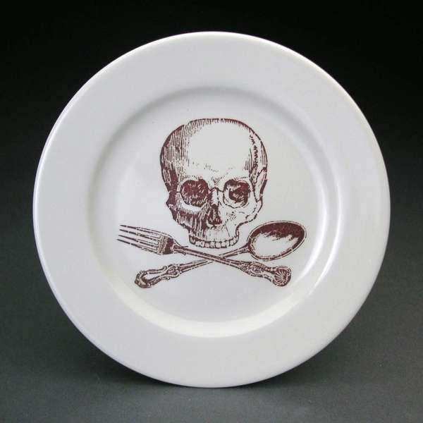 Deathly Dinnerware Skull Decor Skull Plates