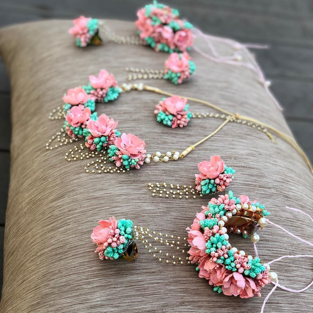 Flosaira Pink Mint Jewellery. Frugal2Fab Wedding flower