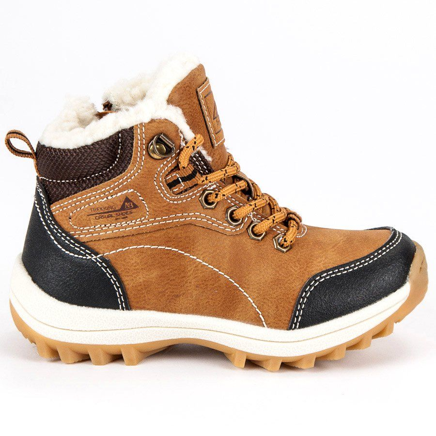 Kozaki Dla Dzieci Arrigobello Arrigo Bello Brazowe Chlopiece Buty Z Kozuszkiem Boots Hiking Boots High Top Sneakers