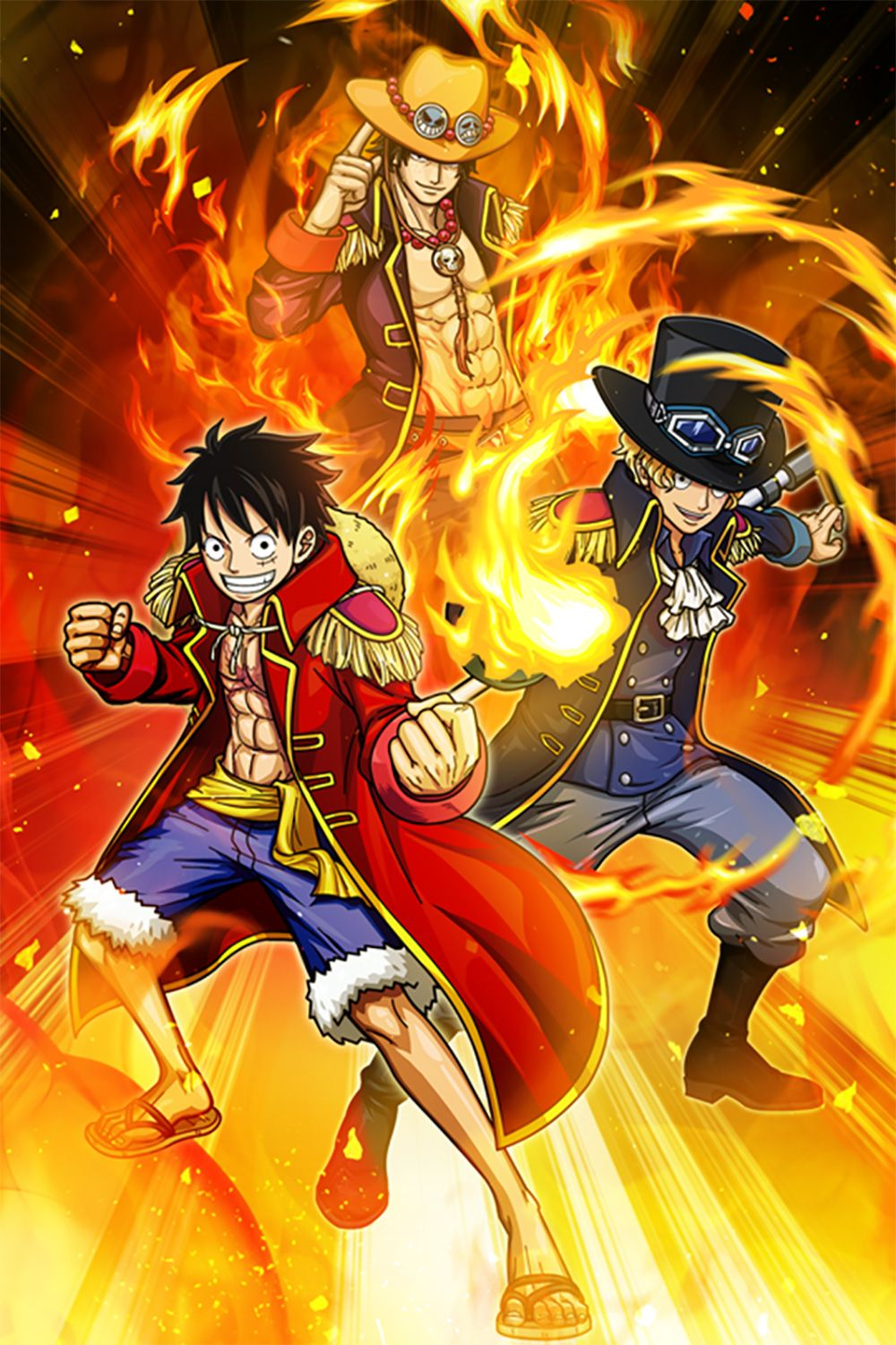 One Piece Luffy Ace Sabo Wallpaper Iphone