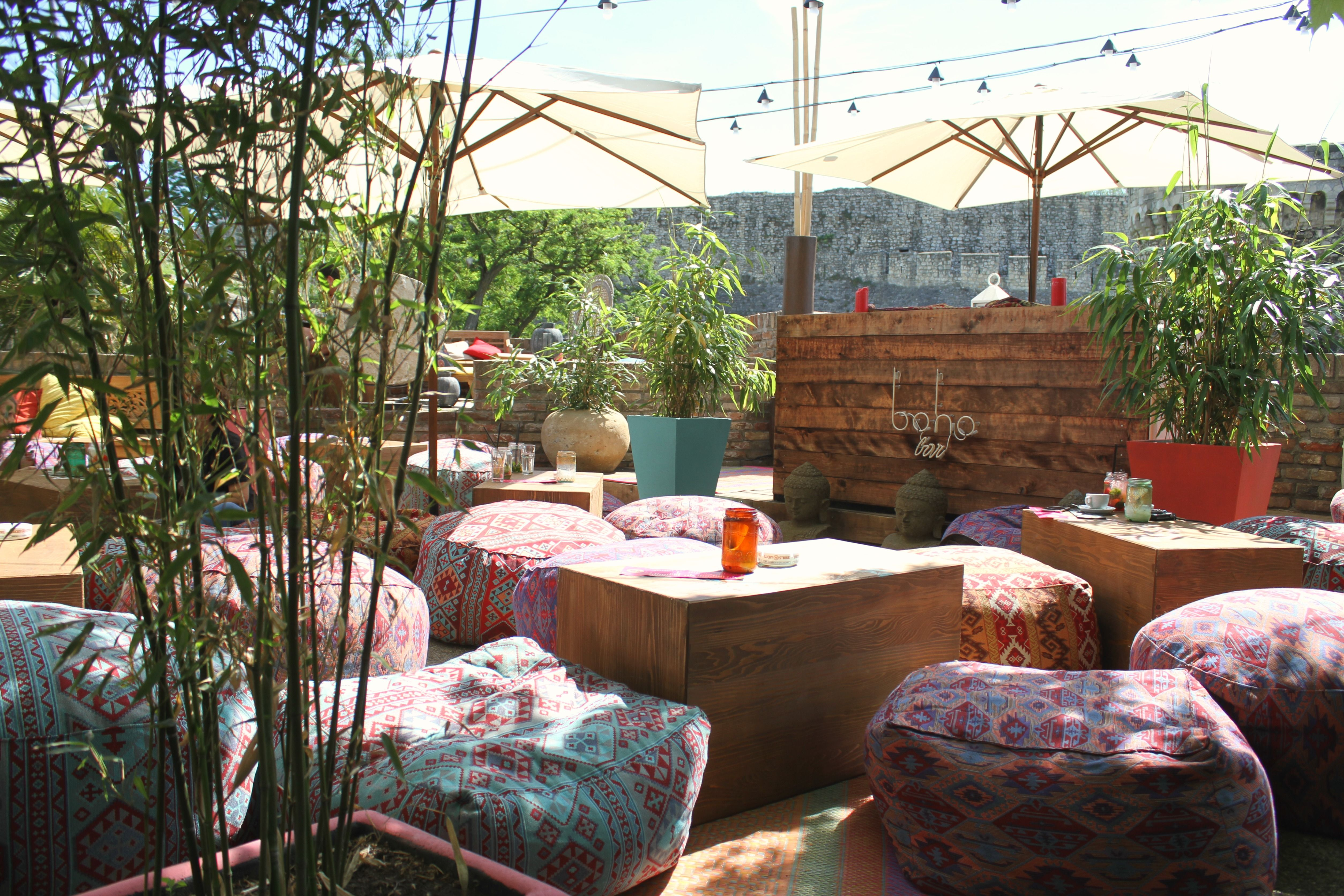 Boho Bar Is Belgrade S New Summer Hotspot Located In The Middle Of The Kalemegdan Fortress The City S Most Famous Attraction Boho Bar Outdoor Decor Patio