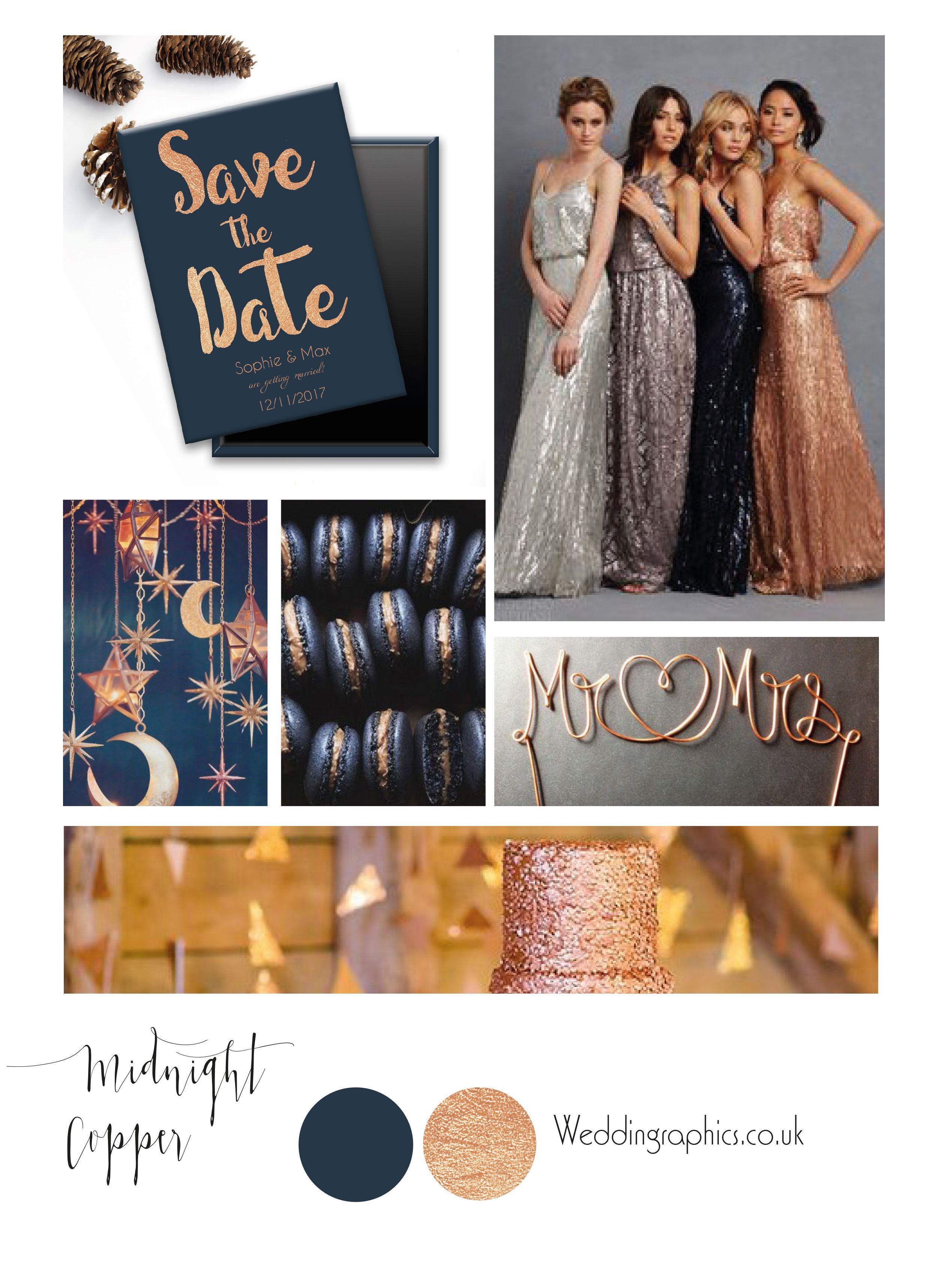 Navy and bronze wedding