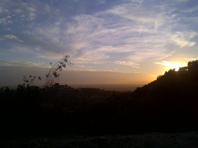 Sunset La Habra Heights. On a clear day, you could see Catalina Island.
