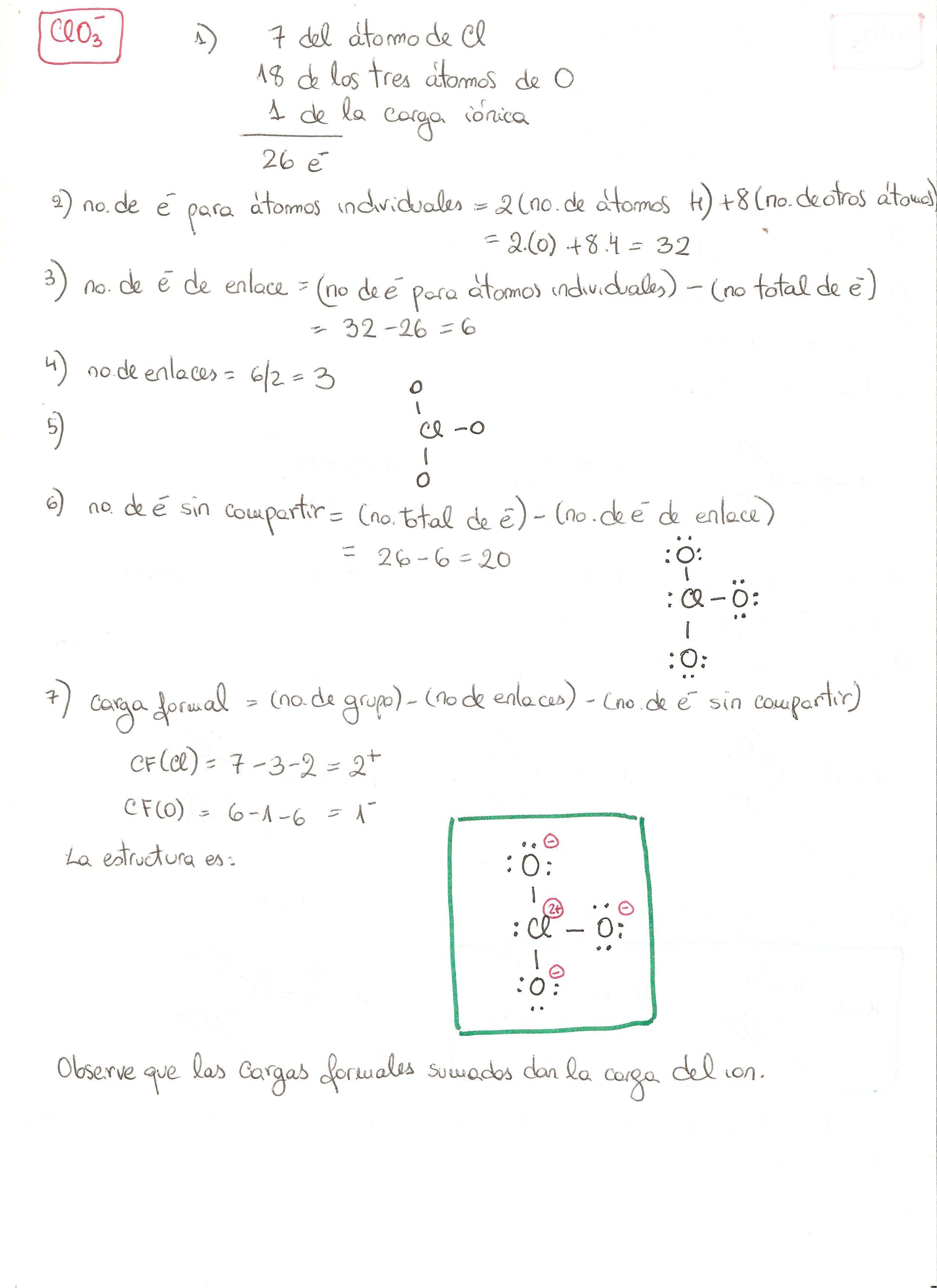 Estructura De Lewis Del Ion Clorato Clo3 Estructura De