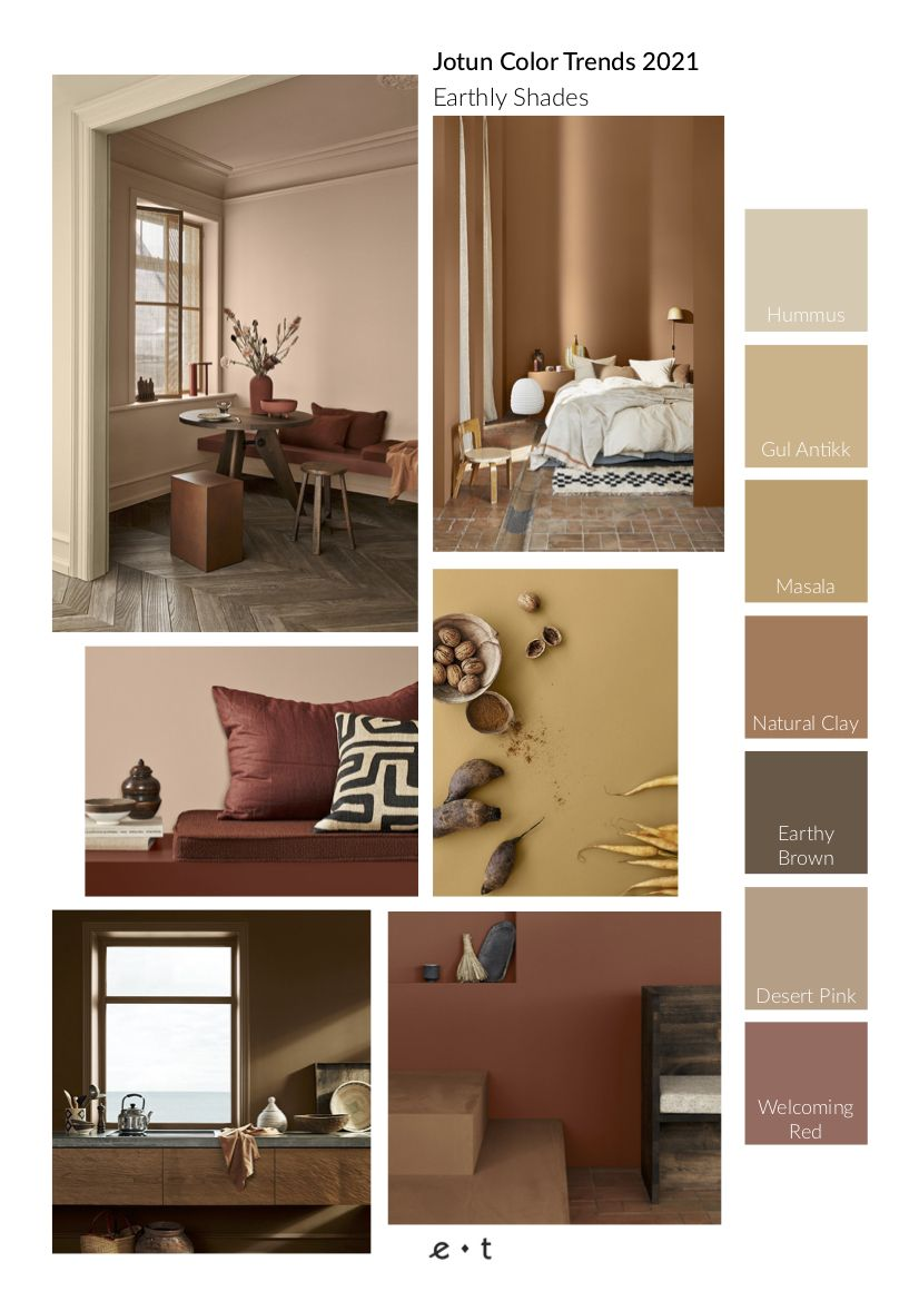 4 Color Trends 2021 By Jotun Eclectic Trends Trending Decor Wall Color Combination Design Color Trends