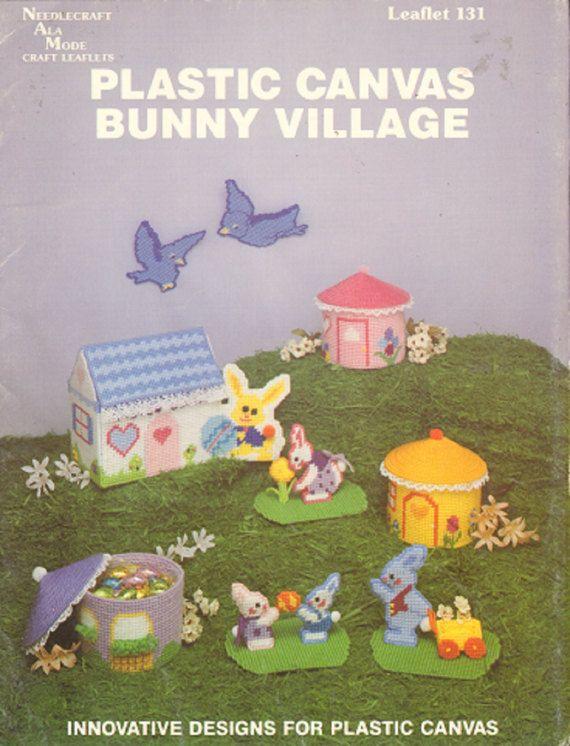 Bunny Village in Plastic Canvas Vintage Crafts by RomanceWriter