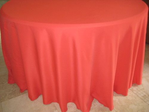 Guava Coral 120 In Round Tablecloths Wedding Banquet