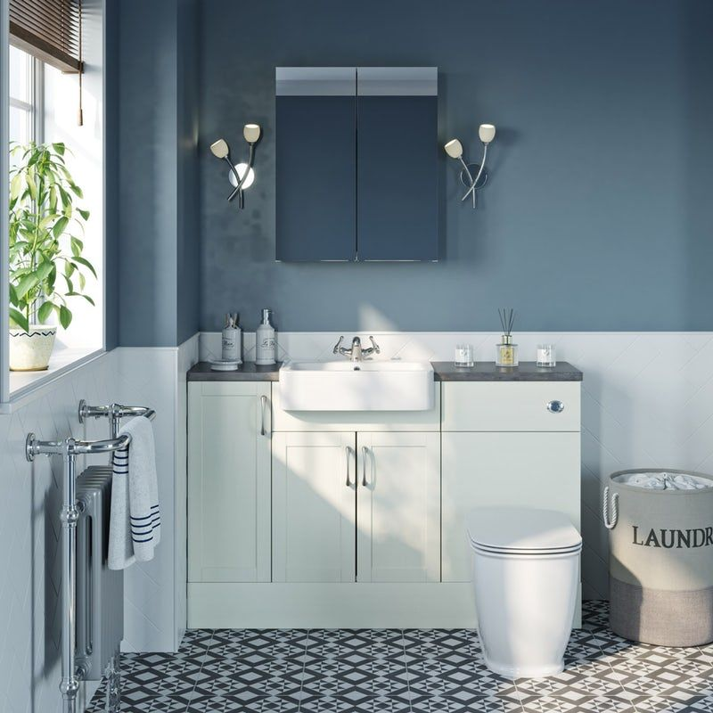 Reeves Newbury White Small Fitted Furniture Mirror Combination
