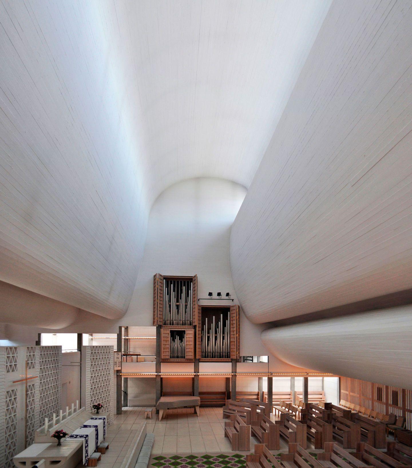 Jørn Utzon, Seier+Seier · Bagsvaerd Church. Copenhagen, Denmark · Divisare