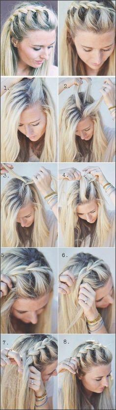 Zopf Frisuren 2018 Einfache Frisuren Frisuren 2018 Pinterest Frauen Haare Flechtfrisuren Geflochtene Frisuren Mittellange Blonde Haare
