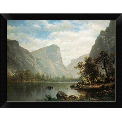 East Urban Home Mirror Lake Yosemite Valley Framed Graphic Art Print Size 9 H X 12 W Format Black