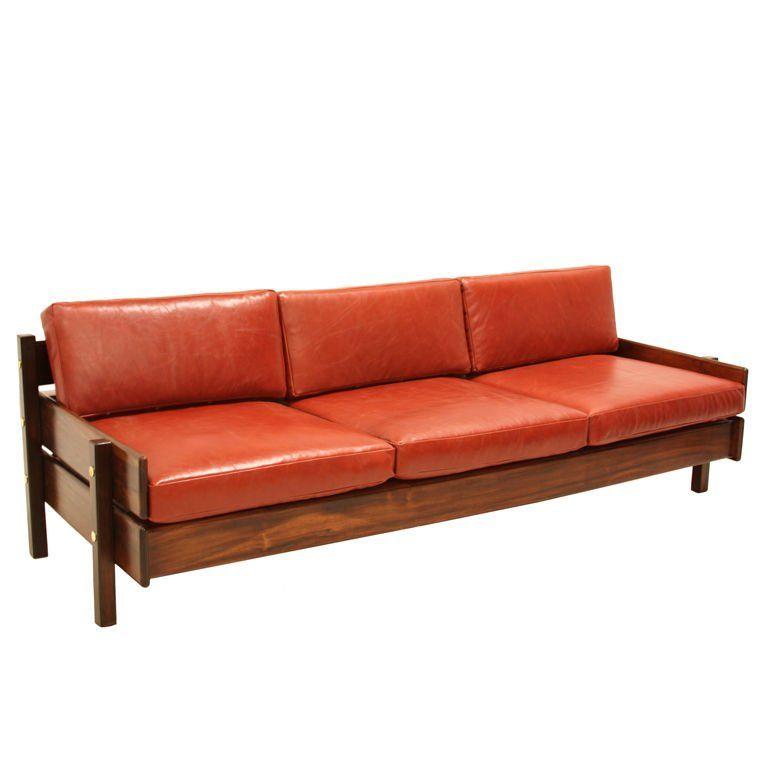 Wonderful Custom Sofa With Floating Bookshelf By Sergio Rodrigues 1