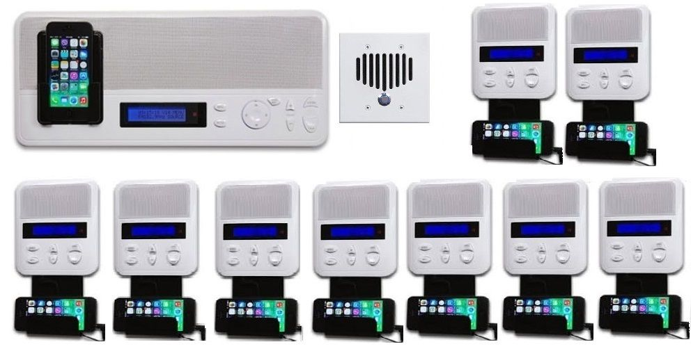 Music Intercom System In Wall Audio With Bluetooth And Ipod Dock Music System Intercom Audio System