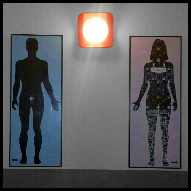Los carteles de los baños del Calders me encantan.
