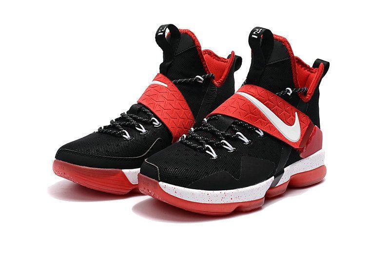dc6b92abda New Basketball Shoes 2017 Big Boys LeBron 14 XIV Bred Black Gym Red ...