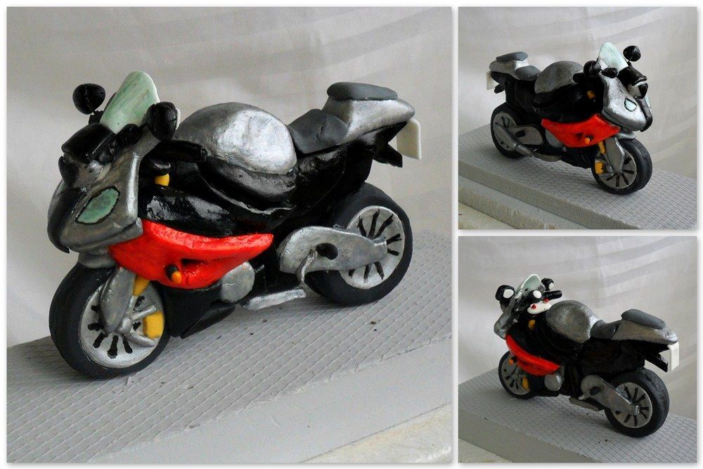 Motorcycle Bmw 1000 Rr Fondant Cake Topper Moto Cake