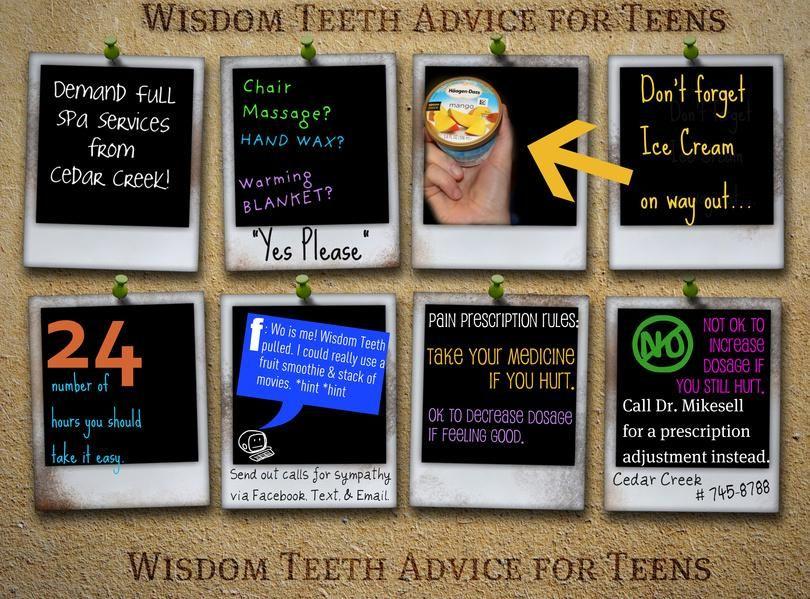 Wisdom Teeth Advice For Teens. This dentist gives Hand